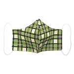 Non-Medical Face Covering -  Adult - Green Plaid Design