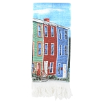 Hand Towel with Rowhouses