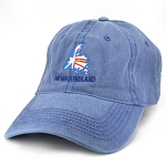 Navy Twill Cap - Flag in Map