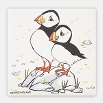 Puffin Coaster - Ceramic with Cork Back