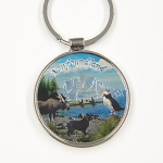 Metal Key Chain - Puffin, Moose, NL Dog and Iceberg