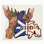 Newfoundland Sticker Decal - NL Map & Moose