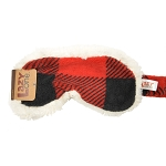 Sleep Mask - Sherpa Red Plaid