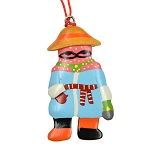 Wooden Mummer Ornament - Woman Mummer