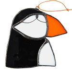 Stained Glass Sun Catcher - Atlantic Puffin