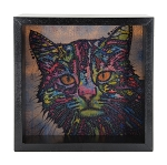 Cat Light Box - Black Frame