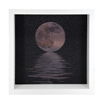 Moon Over Water Light Box - White Frame