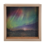 Northern Lights Light Box - Brown Frame