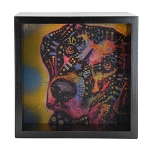 Dog Light Box - Black Frame