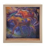 Moose Light Box - Brown Frame