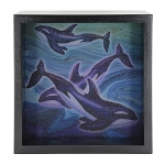 Orca Whale Light Box - Black Frame