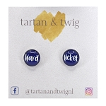 Stud Earrings - Hard Ticket