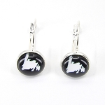 Dangle Earrings - Newfoundland Map Silhouette
