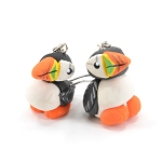 Handcrafted Puffin Earrings