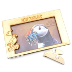 Wooden Puffin Photo Frame