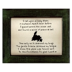 Cross Stitch on Wooden Frame - Newfoundland Map - Green Frame