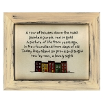 Cross Stitch on Wooden Frame - Row House - Natural Frame