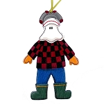 Wooden Mummer Ornament - Checkered Shirt