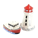 Salt and Pepper Shaker Set - Lighthouse and Boat