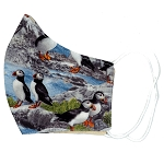 Adult Puffin on Rocks Mask