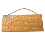Footprints - Wooden Sign
