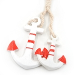 Anchor & Rope Ornament - Red