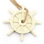Ships Wheel Ornament - Ivory
