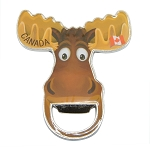 Metal Moose Head Magnet with Bottle Opener