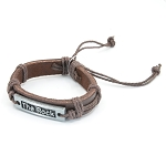 Leather Bracelet with The Rock