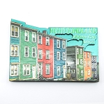 Metallic Jellybean Row House Magnet