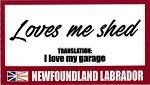Loves Me Shed Magnet