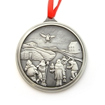 Elliston Mummers Pewter Ornament