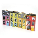 Row House Ornaments - 4 Pack