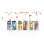 Row House Wine Glass Charms - 6 Pack