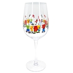 Hand Painted Mummers Wine Glass