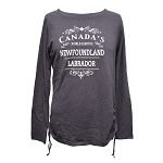 World Famous Newfoundland and Labrador Long Sleeve Shirt - Chocolate