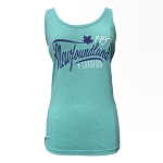 Tank Top with Maple Leaf - Ocean Green