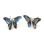 Glacier Pearl Stud Earrings - Butterfly