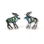 Glacier Pearl Stud Earrings - Moose
