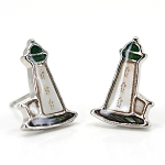 Glacier Pearl Stud Earrings - Lighthouse