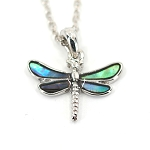 Glacier Pearl Necklace - Dragonfly