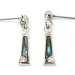Glacier Pearl Dangle Earrings - Lighthouse