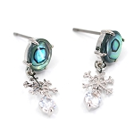 Glacier Pearl Dangle Earrings - Snowflake