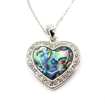 Glacier Pearl Necklace - Fancy Heart