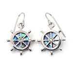 Glacier Pearl Earrings - Ship's Wheel