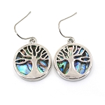 Glacier Pearl Earrings - Tree of Life