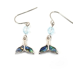 Glacier Pearl Earrings - Whale Song Whale Tail