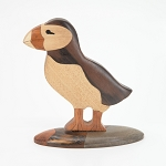 Wooden Puffin Figurine - Two Piece