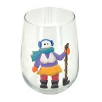 Mummer with Ugly Stick - Hand-Painted Stemless Wine Glass