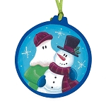 Mummer with Snowman Ornament - Round